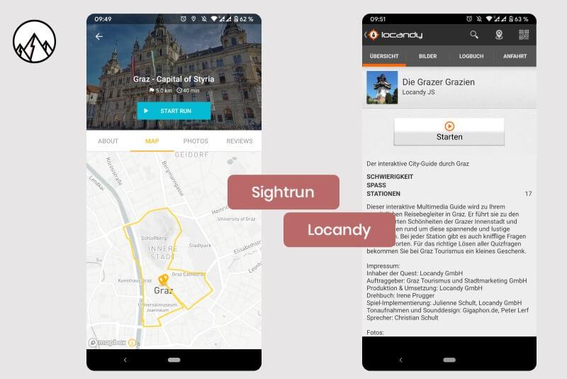 Die Apps Sightrun und Locandy bieten Stadtführen direkt auf dem Smartphone