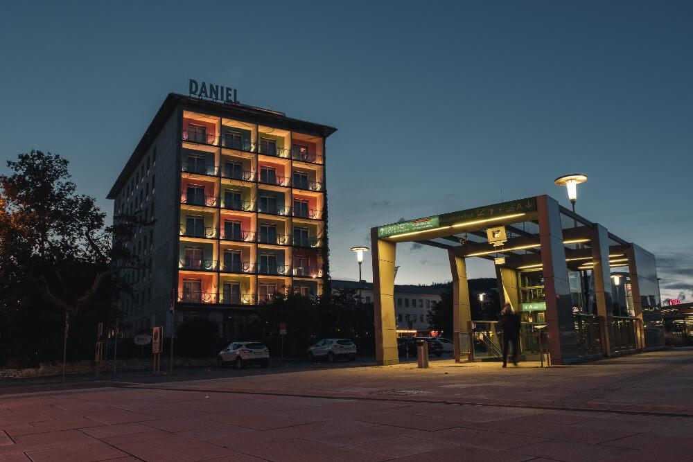 Das Hotel Daniel liegt direkt am Grazer Hauptbahnhof
