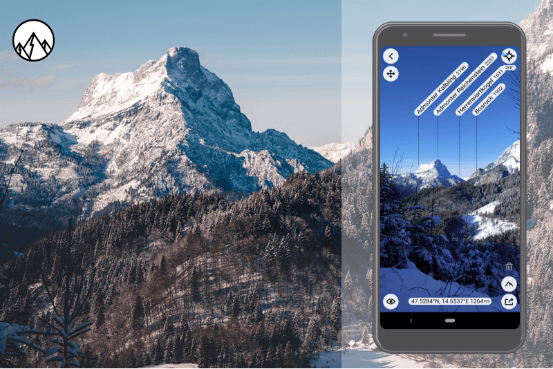 PeakFinder erkennt den Berggipfel  Admonter Reichenstein (2.251 m)