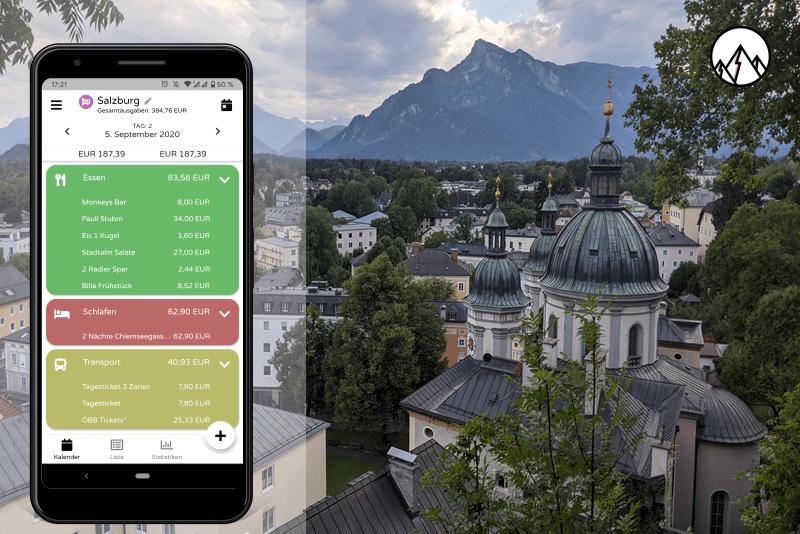 Unser Begleiter in Salzburg: Die Reisekosten App Trexpense