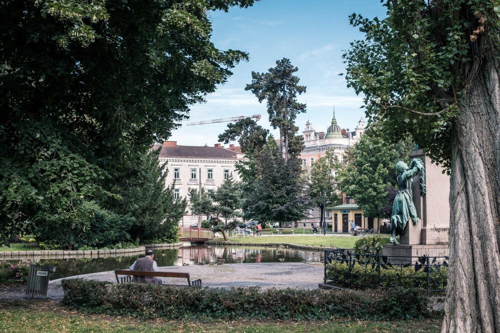 Der Volksgarten in Graz im Stadtteil Lend