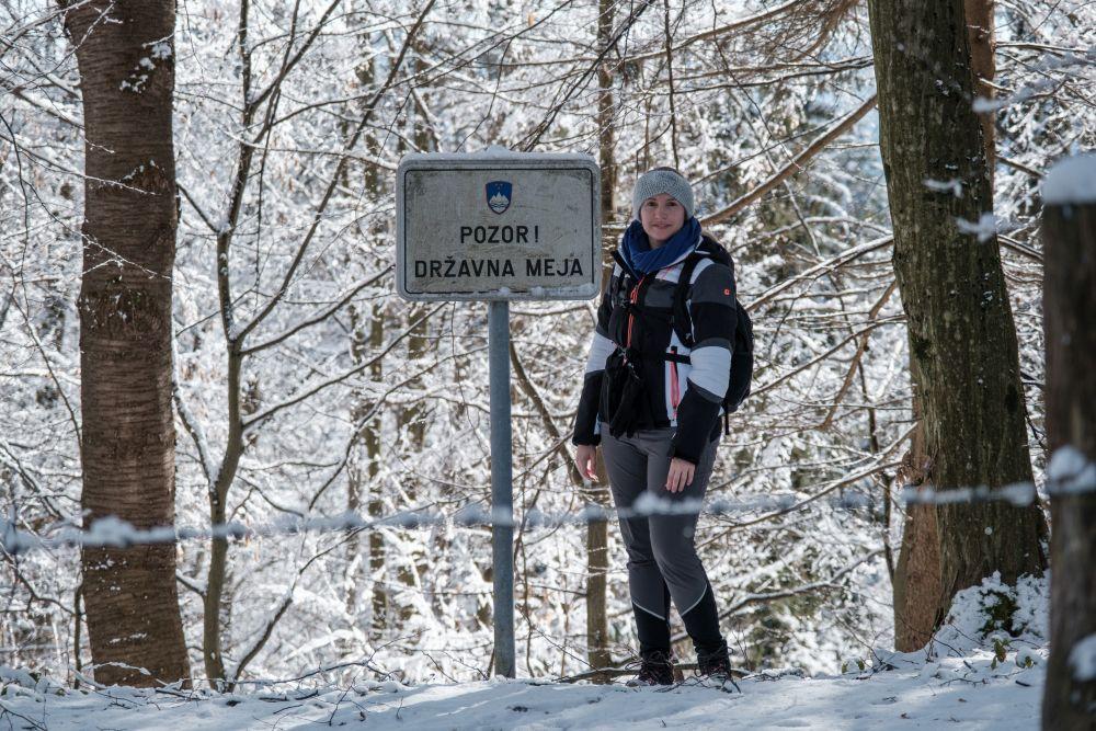 Wir wanderten direkt an der slowenischen Grenze entlang