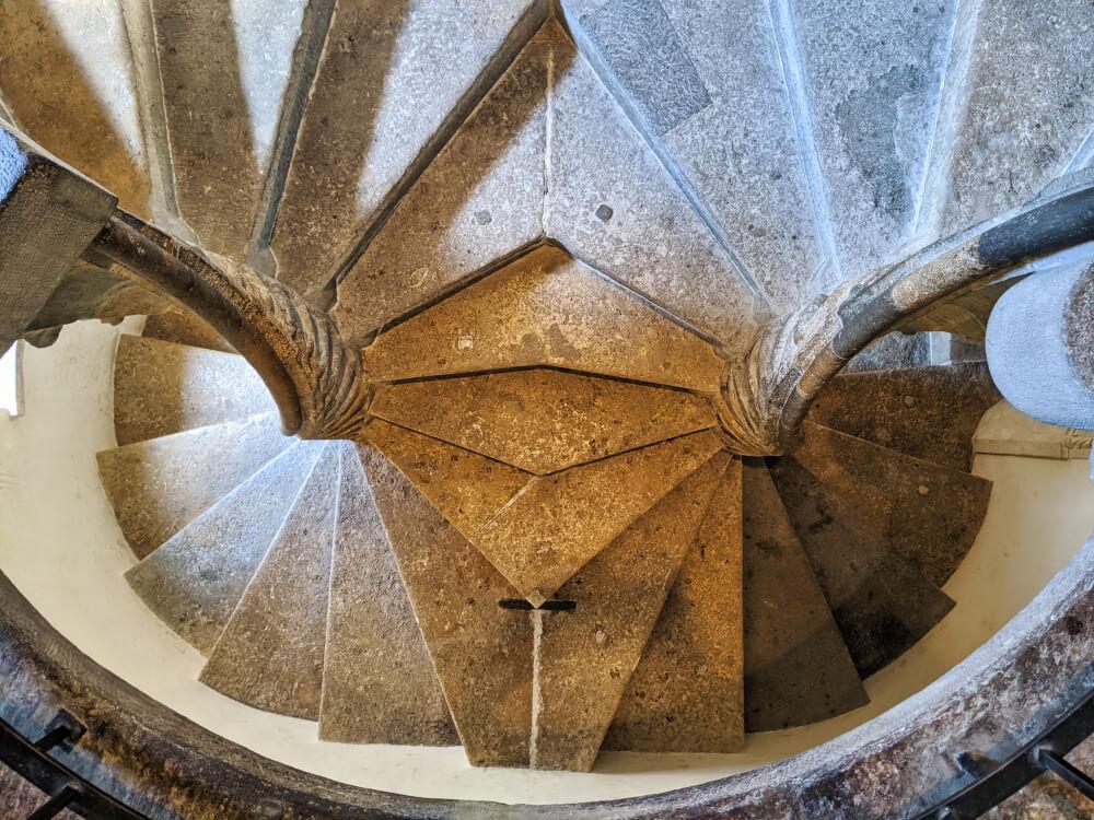 Die Doppelwendeltreppe im Turm der Grazer Burg