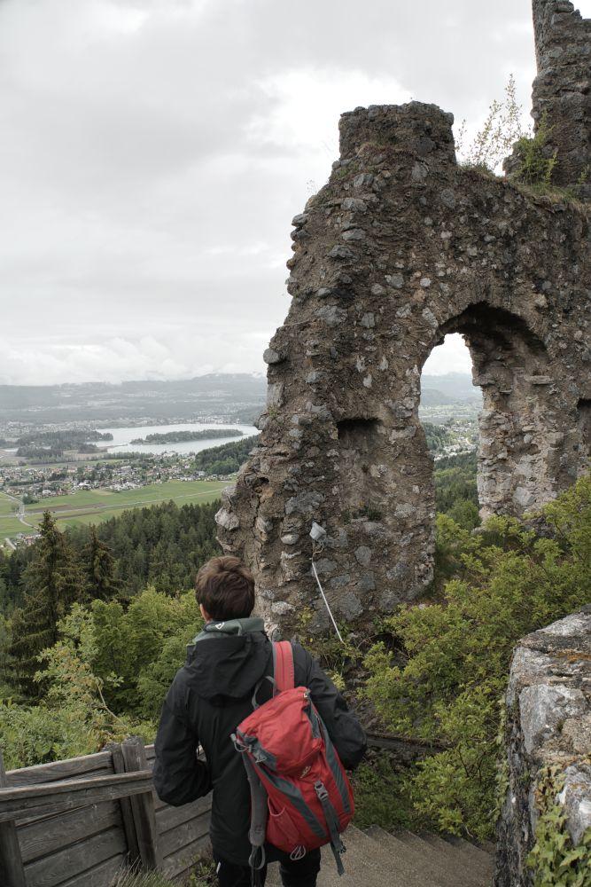 Die Burgruine Finkenstein war während unseres Besuchs leider geschlossen
