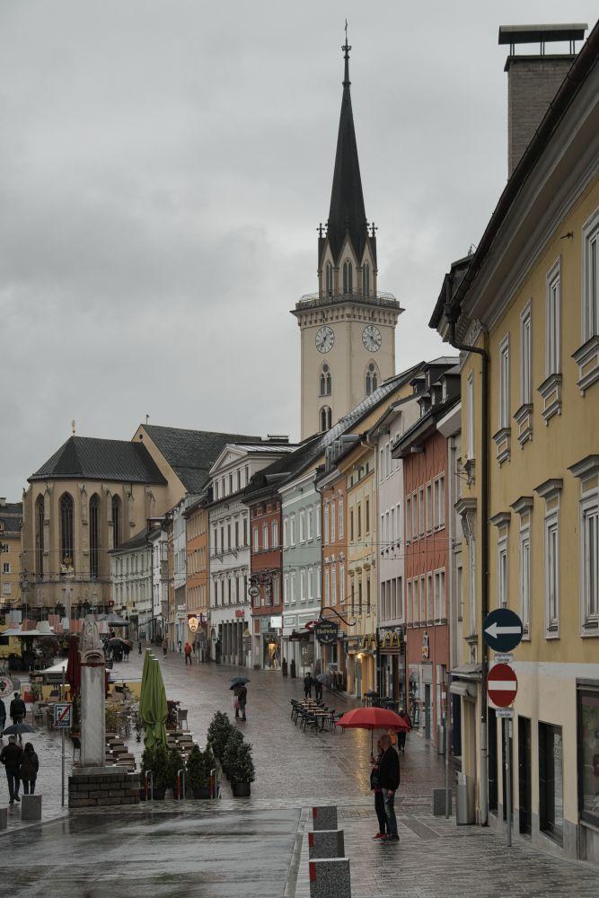 Die Stadt Villach besuchten wir leider bei Regen
