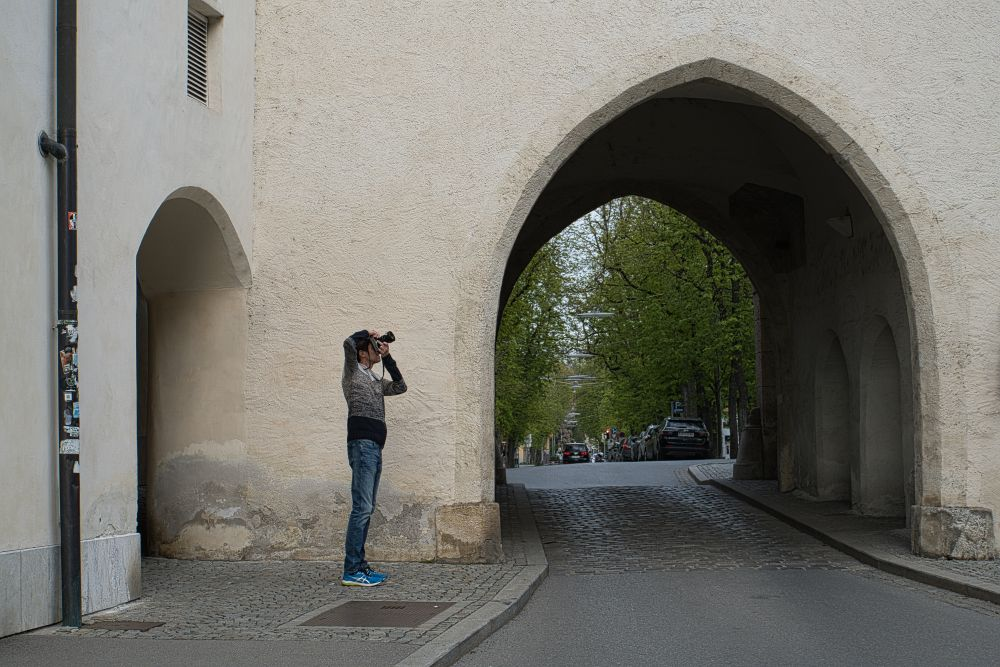 Stadtmauer mit Einfahrt in Graz