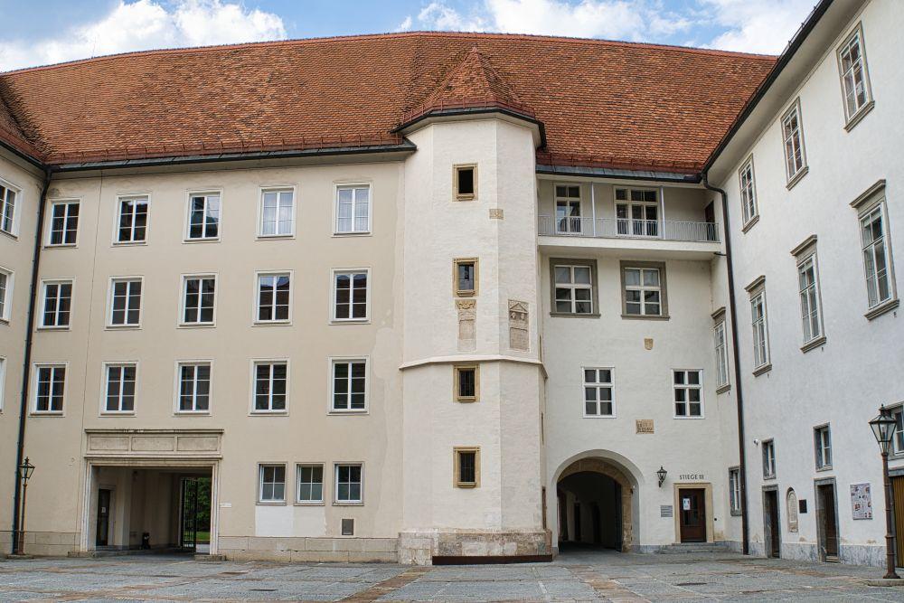 Das alte Burggelände der Stadt Graz