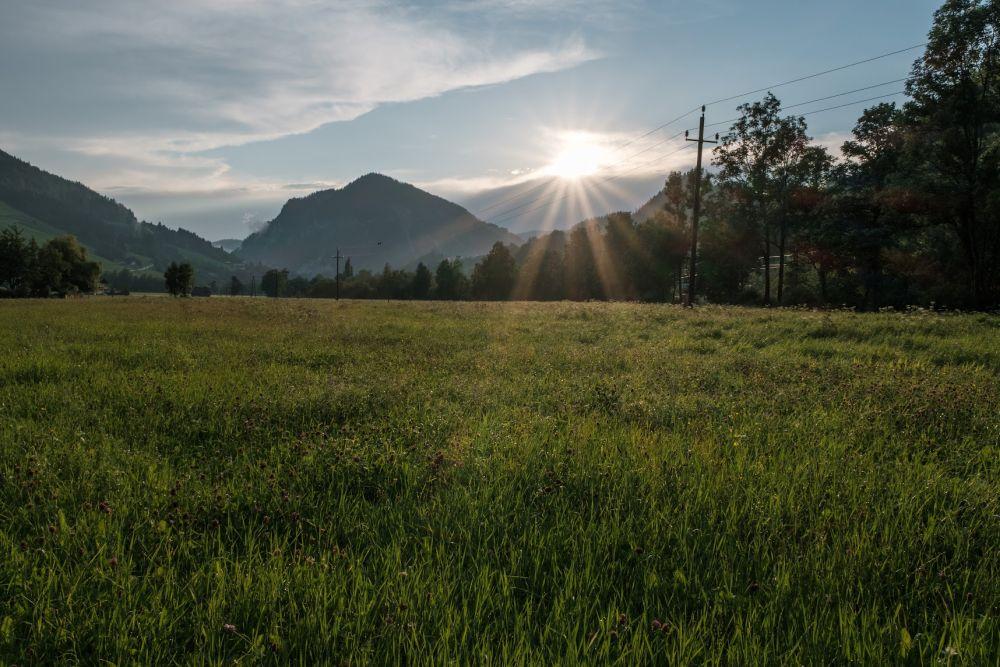 Die Region Schladming-Dachstein zum Sonnenuntergang