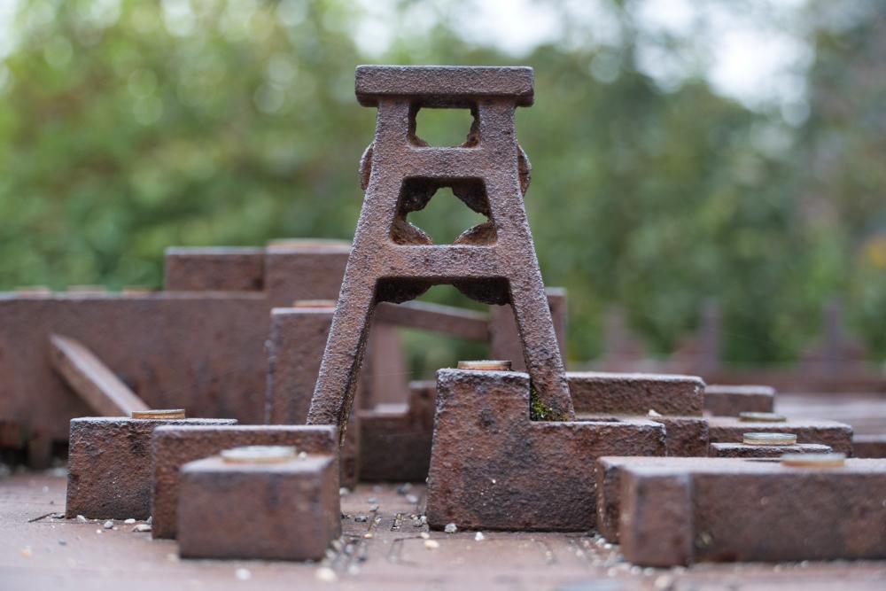 Auch in der Modellwelt sieht der Förderturm der Zeche Zollverein beeindruckend aus