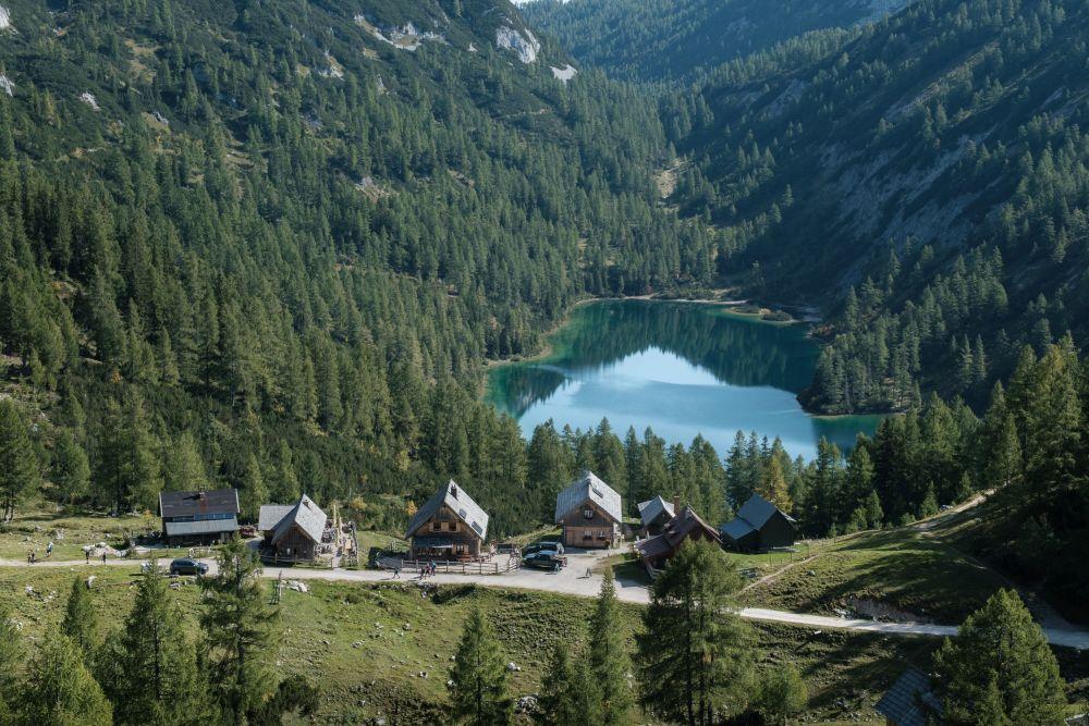 Ausblick auf den nominierten Steirer See bei der Tauplitzalm