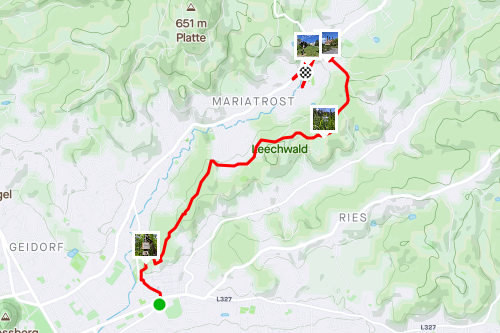 Durch den Leechwald & Maria Trost, einfache Wanderung