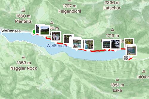 Slow Trail Weissensee, mittelschwere Wanderung