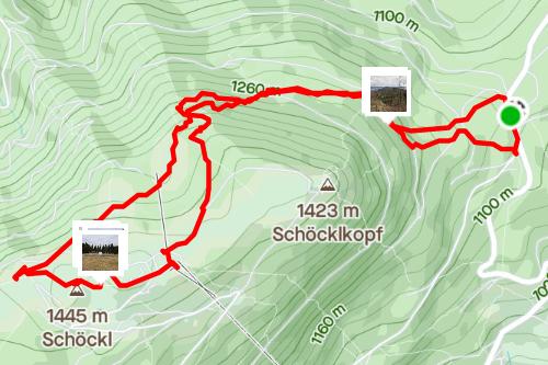 Schöcklkreuz bis Gipfel, mittelschwere Wanderung